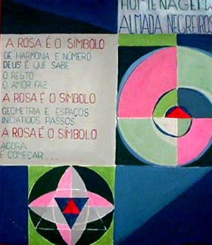 Antonio Sampaio 1978 HOMENAGEM A ALMADA NEGREIROS Acrílico s/ Aglomerado 107 x 90 cm