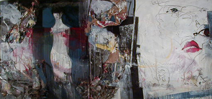 Artur Bual 1980 S/ TÍTULO Pintura e colagem s/ Aglomerado 183 x 366 cm