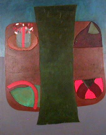 Rui Pimentel 1980 INTERIOR.EXTERIOR Acrílico s/ Tela 175 x 136 cm
