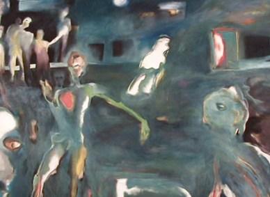 Miguel D'Alte, 1984 A NOITE DA COMPOSIÇÃO Óleo s/ Tela 150 x 200