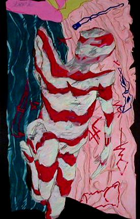 Sérgio 1986 PISTOLEIROS ROSA Técnica Mista s/ Papel 140 x 82 cm