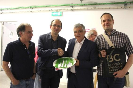 Visita do secretário-geral da Cultura da Junta da Galiza, Anxo Lorenzo
