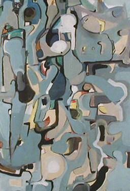 Edgardo Xavier (AO) Sem título, 1978 Acrílica sobre aglomerado 89 x 72 cm Obra apresentada na I Bienal Internacional de Arte de Vila Nova de Cerveira, que se realizou de 5 a 31 de agosto de 1978.