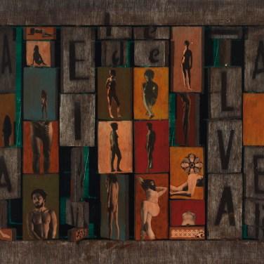 Henrique Silva (PT) Múltiplo, 1977 Colagem sobre madeira 40 x 54,5 cm
