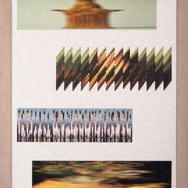 Jiri Kolár (CZ) Chanson à trois voix de fille et l'automne s'en va, 1981 Colagem sobre papel 102 x 73 cm Grande Prémio Pintura na III Bienal Internacional de Arte de Cerveira, realizada de 24 de julho a 31 de agosto de 1982.