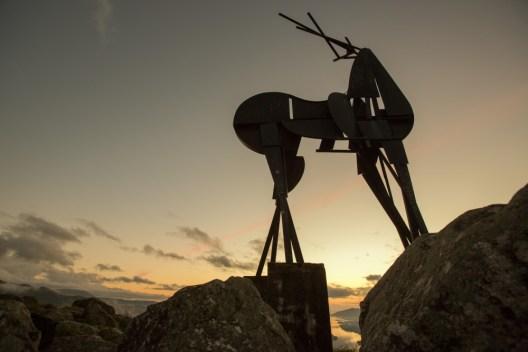 "José Rodrigues ""O Cervo"", 1985 Escultura600x100x200cm Fotografia: Gilberto Coutinho"