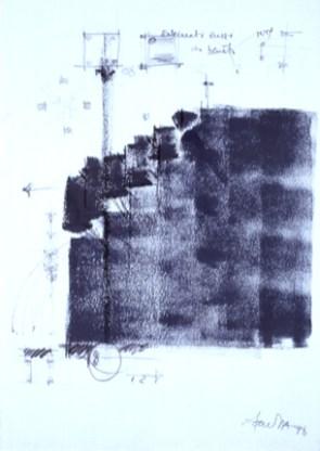 Carlos Barreira Seara Mecânica, 1998 Acrílico e carvão sobre papel 100x70 cm