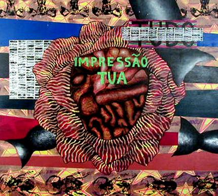Isabel Padrão 1997 IMPRESSÃO TUA Acrílico s/ Tela 135 x 150 cm