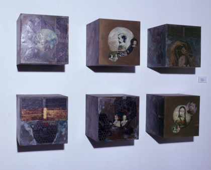 Luís Melo 2001 S/ TÍTULO Mista s/ MDF 6 (30 x 30 x 30) cm