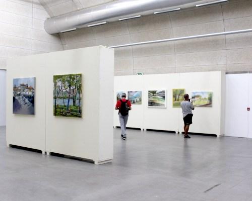 Obras do concurso de Pintura ao Ar Livre António Fernández em exposição no Museu Bienal de Cerveira, 2019