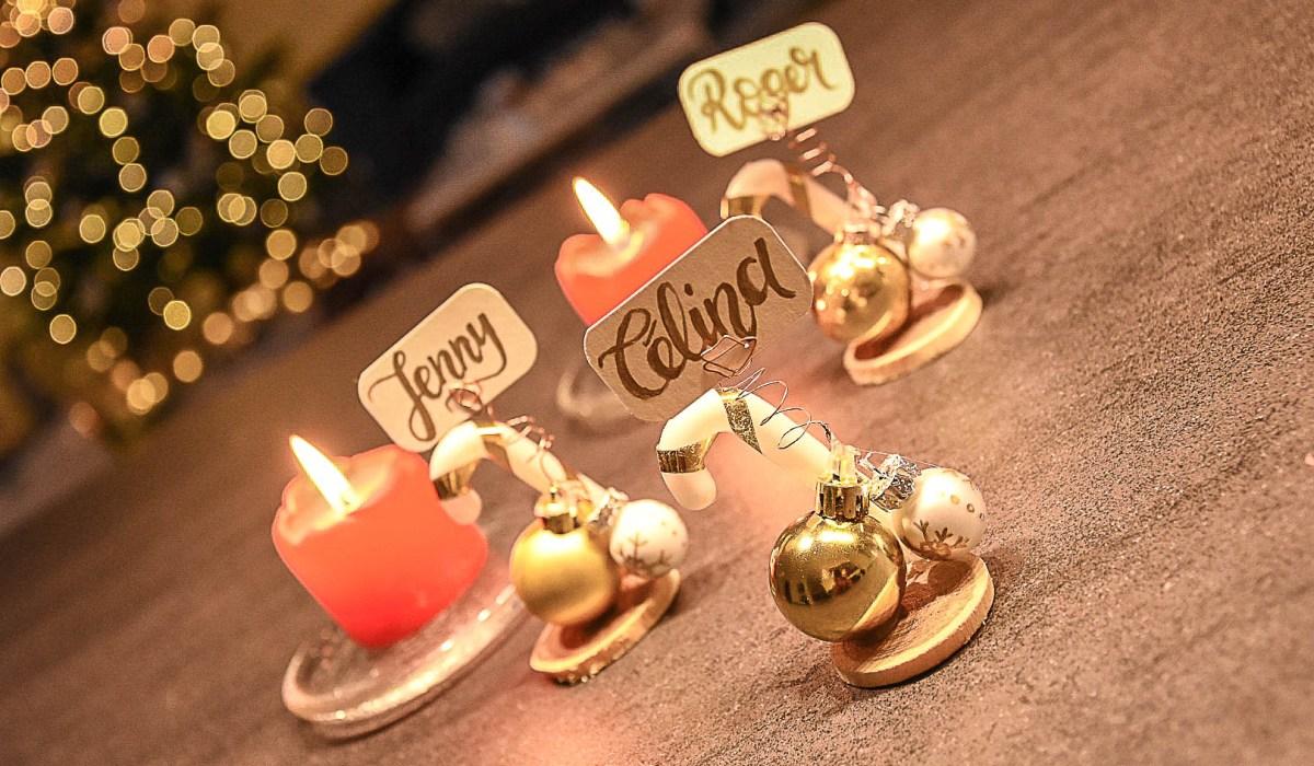 DIY Namensschilder für den Weihnachtstisch