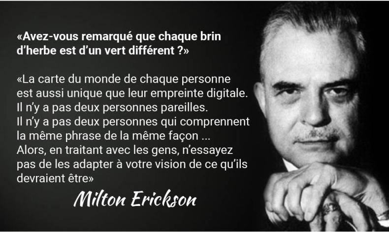 Citation Milton Erickson hypnose