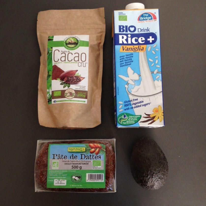 Ingredients recette crudivorisme