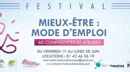 Festival «Mieux-Être : Mode d'emploi» du 17 au 20 Juin 2016 à Paris