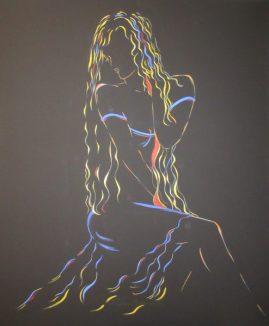 Regina Merta, MAGIC MOMENT, 120 x 100 cm, Acryl auf Leinen, 2016