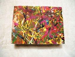 Herwig Maria Stark, ART CUBE 3/4, size 15 x 20 x 6 cm, Mixed media on wooden cube
