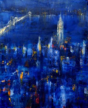GERLINDE KOSINA, NEW YORK no 9, Öl auf Leinwand, 100 x 80 cm, 2007