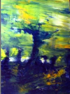 GERLINDE KOSINA, BLAUER BAUM, Öl auf Leinwand, 100 x 80 cm