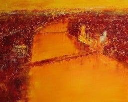 GERLINDE KOSINA, LONDON, Öl auf Leinwand, 80 x 100 cm, 2013