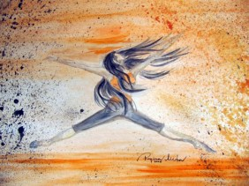 Regina Merta, FREUDENSPRUNG, Aquarell auf Papier, 30 x 40 cm, 2005