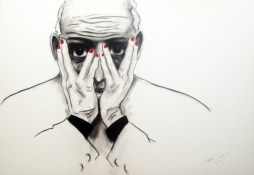 Herwig Maria Stark, THE W..., 70 x 100 x 4 cm, pigment print, mixed media, 2012_01