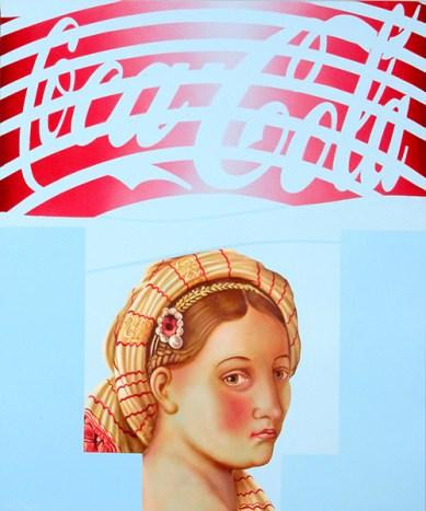 Diego Valentinuzzi, I LOVE COCA COLA, mixed media on canvas, 60 x 50 cm, 2011