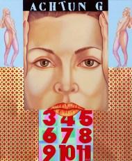 Diego Valentinuzzi, NACH VORNE , mixed media on canvas, 60 x 50 cm, 2010