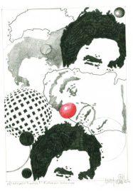 Herbert Bauer, ROLANDO VILLAZON, 30 x 21 cm, graphit pen on paper, 2015