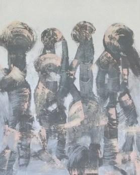 Jürgen Haupt, MEETING, Mischtechnik auf Leinwand, 100 x 80 cm, 2016