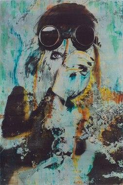 Atelier COOLPOOL (Daisy+Manfredo) - Tank Girl, 80 x 120 cm, photography exposure, oil on canvas, 2016