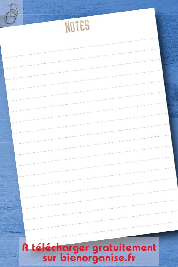 Free printable note