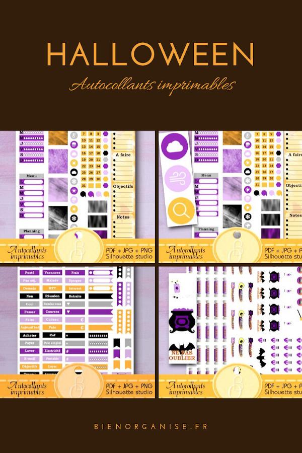 halloween autocollants imprimables