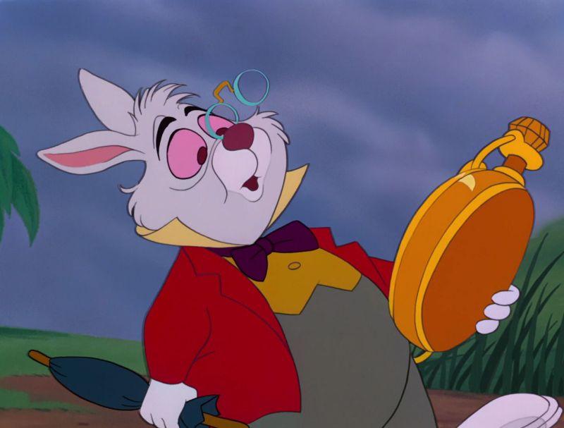 Me siento como el conejo del Alicia en el país de las maravillas.