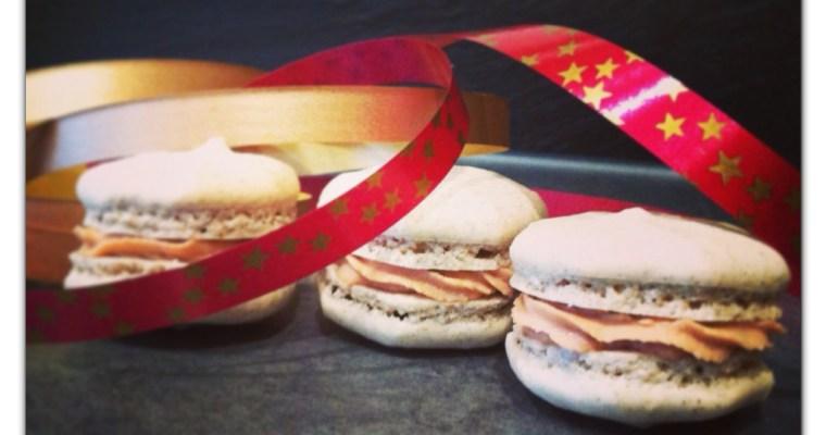 Macarons pain d'épices au foie gras