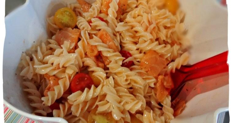 Salade de pâtes au saumon fumé {sans gluten }