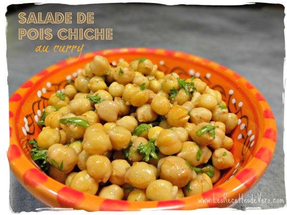 Salade pois chiche curry