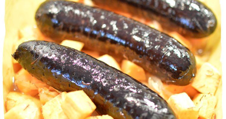 Boudin noir au four aux oignons et patates douces