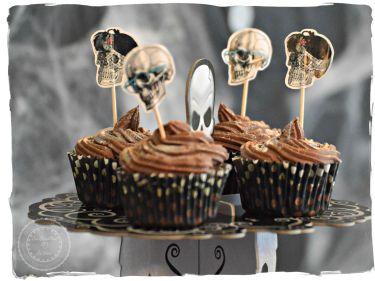 cupcakes tête de mort