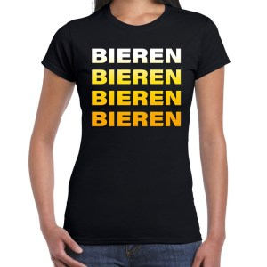 Bier zuip shirt voor dames in het zwart