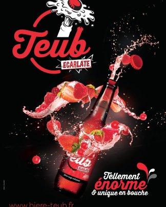 affiche bière Teub Ecarlate