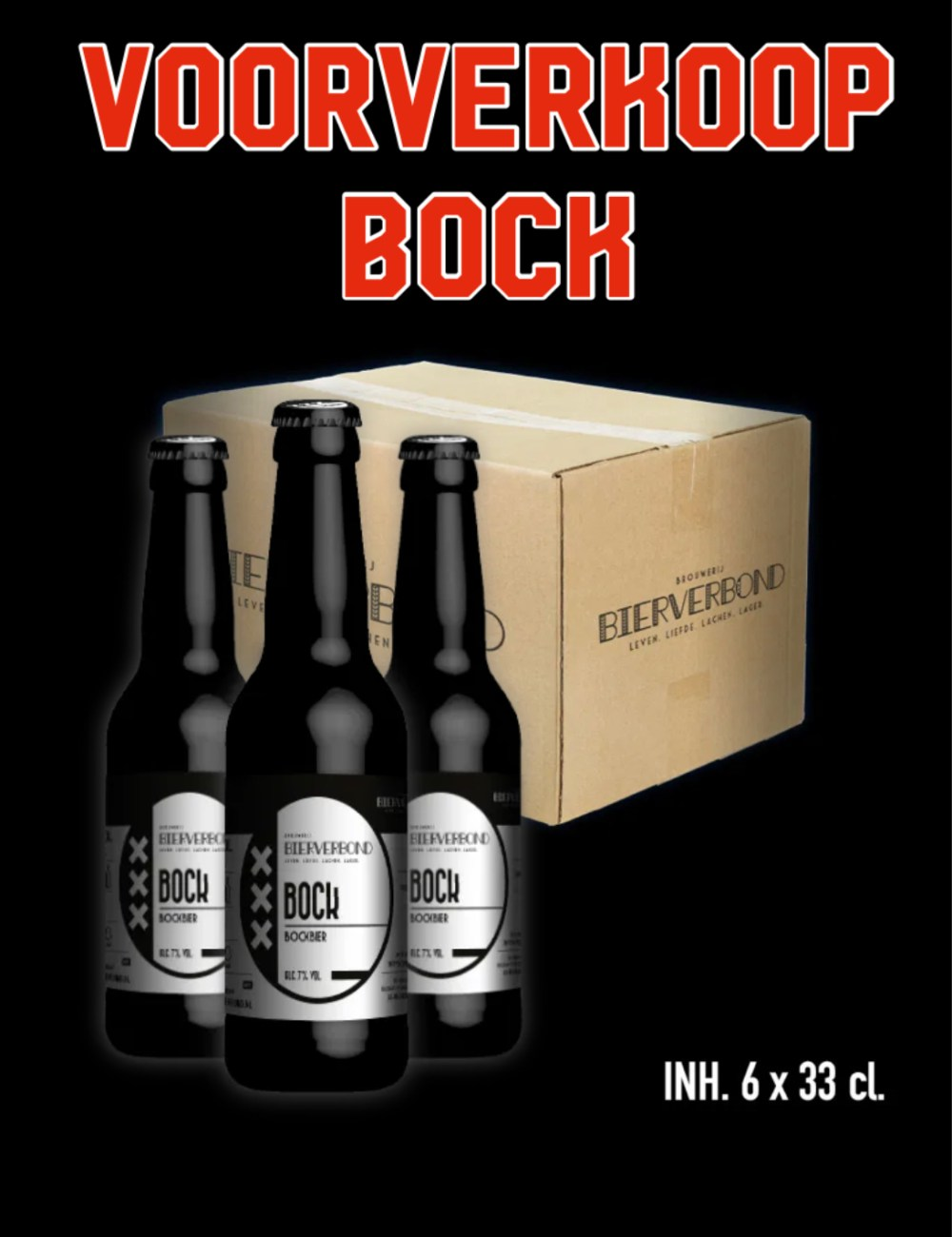 6 bottles bock