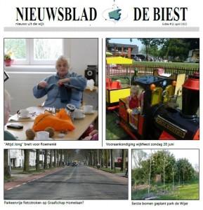 nieuwsblad de Biest april 2015