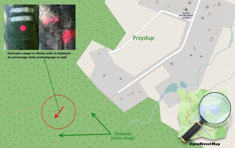 Przyslup_Jaslo_mapa