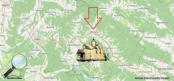 Olszanica_mapa
