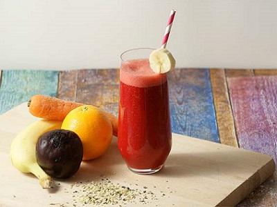 bietensap met fruit
