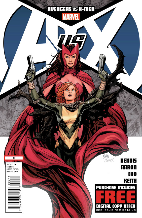 Avengers vs X-Men Cover Art And Scarlet Witch Kicking Ass