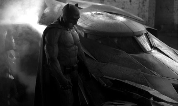 Ben Affleck as Batman, shot from new Batman vs Superman film