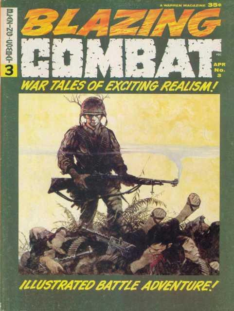 Cover of Blazing Combat #3, art by Frank Frazetta