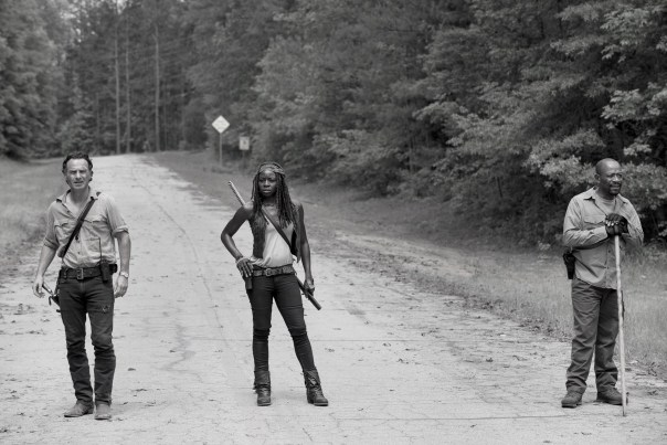 black & white of Michonne