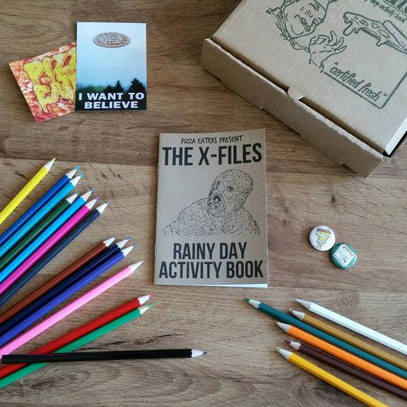 Xfiles coloring book